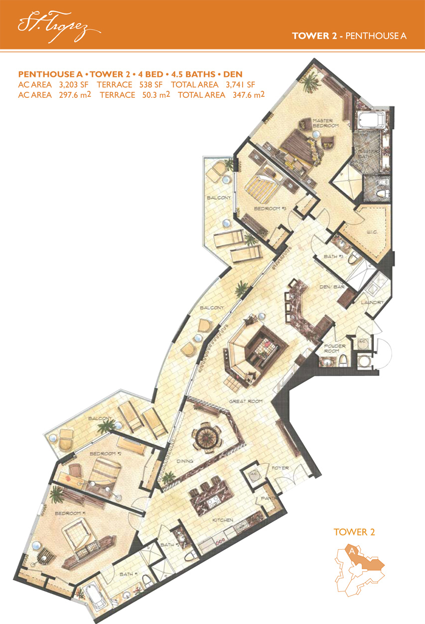 st.tropez - lanai residence floorplans ::