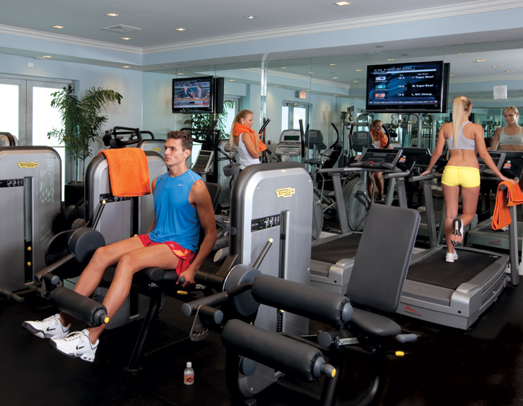 Gym here s to your health the fitness club at st tropez is completely